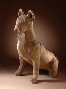 Chinese earthenware dog