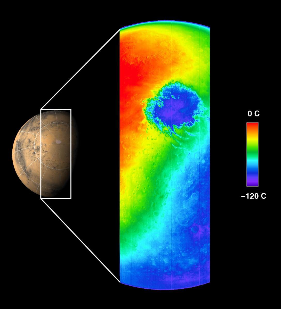 Emisión térmica de Marte, 2001.