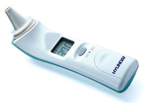 Ear infrared thermometer.