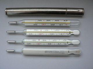 Termómetros clínicos de mercurio