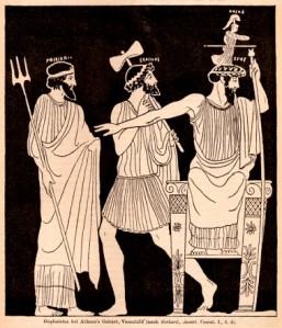 Atenea nace de la cabeza de su padre.